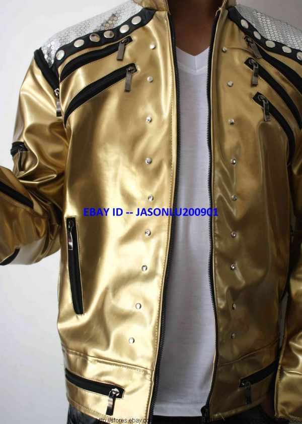 NEW MICHAEL JACKSON BEAT IT GOLDEN JACKET FOR PERFORMANCE AND